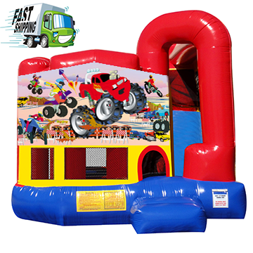 Monster Truck Bounce House with Slide
