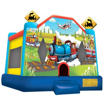 Trains Bounce House Medium Size