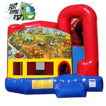 Dino Planet Combo Bounce House with Slide