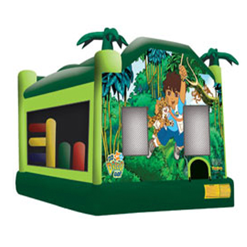 Go Diego Bounce House Inflatable Slide