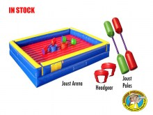 Inflatable Joust Game 2 Person includes headgear, 25 foot inflatable structure and Joust Poles
